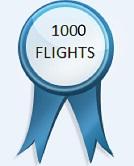 1000 Flights - Achievement 1000 Flights
